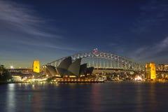 悉尼闪闪发光 免版税库存图片