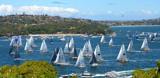 悉尼霍巴特游艇况赛2013年 免版税库存照片