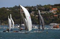 悉尼霍巴特游艇况赛2012年 免版税图库摄影