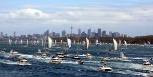 悉尼霍巴特游艇况赛2012年 图库摄影