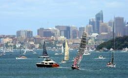 悉尼霍巴特游艇况赛2012年 库存照片