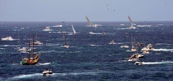 悉尼霍巴特游艇况赛2012年 免版税库存图片