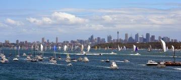 悉尼霍巴特游艇况赛2012年 库存图片