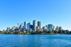 悉尼,澳大利亚的城市地平线金融中心 免版税库存照片