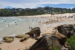 悉尼,澳大利亚- 2018年1月13日:淡水海滩在悉尼 库存图片