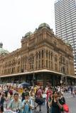 悉尼,澳大利亚- 2015年12月26日:人Croud fa的 库存图片