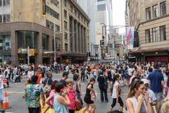 悉尼,澳大利亚- 2015年12月26日:人Croud fa的 免版税库存图片