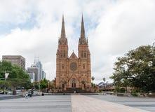悉尼,澳大利亚- 2014年11月10日:圣玛丽的大教堂在悉尼,澳大利亚 库存照片