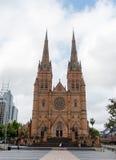 悉尼,澳大利亚- 2014年11月10日:圣玛丽的大教堂在悉尼,澳大利亚 免版税库存照片