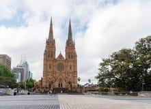 悉尼,澳大利亚- 2014年11月10日:圣玛丽的大教堂在悉尼,澳大利亚 图库摄影