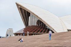 悉尼,澳大利亚- 2014年11月05日:悉尼歌剧院台阶,细节 澳洲 图库摄影