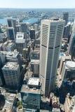 悉尼,澳大利亚- 2014年11月17日:悉尼都市风景从Westfield塔的 库存照片