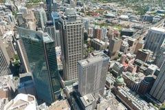 悉尼,澳大利亚- 2014年11月17日:悉尼都市风景从Westfield塔的 免版税库存图片