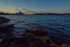 悉尼,澳大利亚- 2015年5月14日:歌剧院和港口 免版税图库摄影