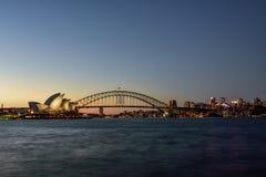 悉尼,澳大利亚- 2015年5月14日:歌剧院和港口 免版税库存图片