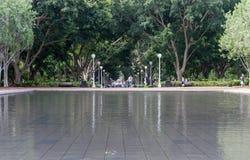 悉尼,澳大利亚- 2014年11月10日:海德公园在悉尼,澳大利亚 免版税库存图片