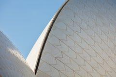 悉尼2016年8月14日-悉尼歌剧院瓦片细节 库存图片