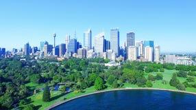 悉尼- 2015年11月7日:城市摩天大楼鸟瞰图  Sydn 库存图片