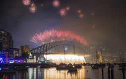悉尼2014烟花 免版税库存照片