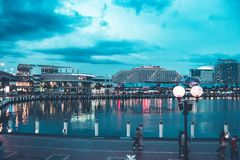 悉尼Arquitecture和街道大厦 免版税库存照片