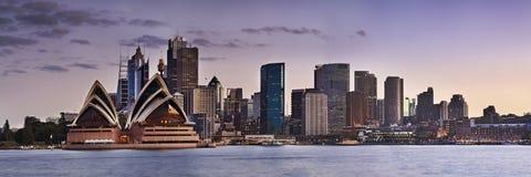 悉尼CBD Kirribilli关闭全景 免版税库存图片
