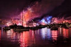 悉尼FW海军球光芒 免版税库存图片