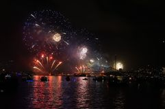 悉尼NYE 免版税库存照片