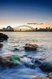 悉尼Opear议院和Habour桥梁 免版税库存图片