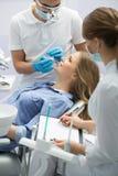 患者在牙科方面 免版税库存照片
