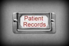 患者记录抽屉文件 免版税库存图片