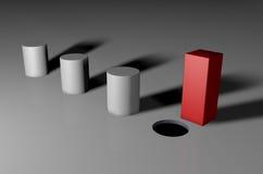 您不可能适合在一个圆的孔的一个方形的钉 皇族释放例证