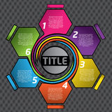 您五颜六色的设计的文本 免版税库存图片