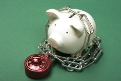 您储蓄的证券 免版税库存图片