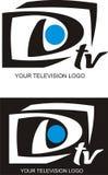 您徽标的电视 库存图片