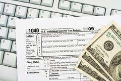 您文件在线回归的税务 库存照片