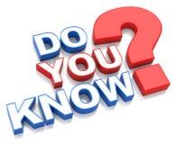 您是否知道? 免版税库存图片