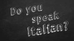 您是否讲意大利语? 皇族释放例证