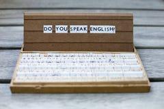 您是否讲英语? 图库摄影