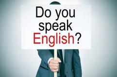 您是否讲英语? 免版税库存照片
