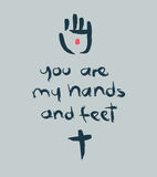 您是我的手和脚b 免版税图库摄影