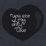 您是仅我的爱字法 图库摄影