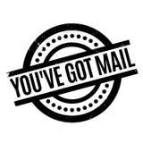 您有邮件不加考虑表赞同的人 库存照片