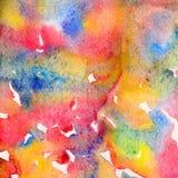 您独特的产品的抽象五颜六色的水彩背景 传播的水彩油漆 向量例证