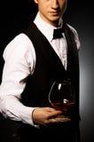 您白兰地酒的先生 免版税库存图片