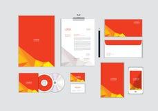 您的事务的公司本体模板没有包括CD的盖子、名片、文件夹、信封和信件顶头设计 13 库存例证