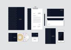 您的事务的公司本体模板没有包括CD的盖子、名片、文件夹、信封和信件顶头设计 12 向量例证