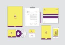 您的事务的公司本体模板没有包括CD的盖子、名片、文件夹、信封和信件顶头设计 15 库存例证