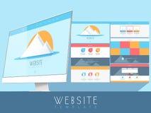 您的事务的创造性的网站模板 免版税图库摄影