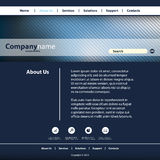 您的事务的网站模板 免版税库存照片