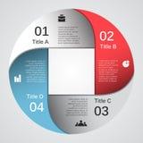 您的企业项目的现代传染媒介模板 免版税库存图片